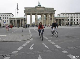 Берлин, вид на Бранденбургские ворота