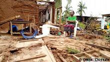 Mosambik - Macombia - Zerstörung nach Zyklon Kenneth