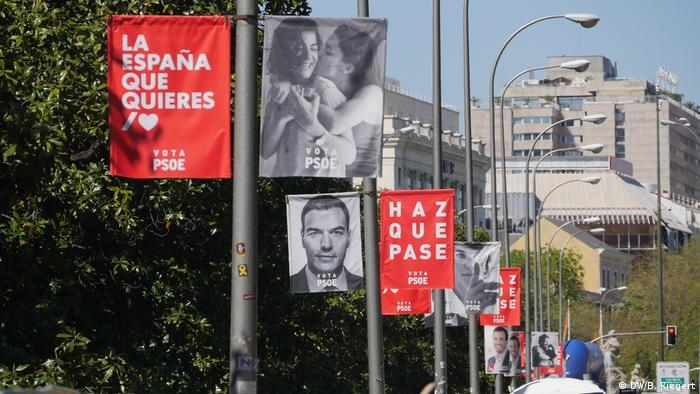 Spanien Madrid - Wahlplakate der sozialistischen Partei PSOE (DW/B. Riegert)
