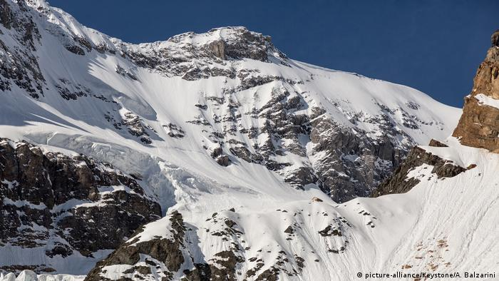 Grünhorn Hut in the Swiss Alps