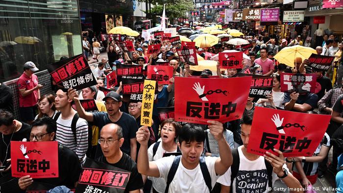 Hong Kong - Protest gegen Auslieferung