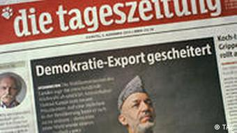 taz front page