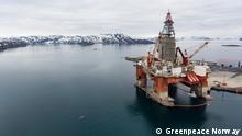 Norwegen Greenpeace Protest Bohrinsel West Hercules
