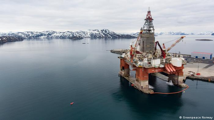 A Norwegian oil rig in the Arctic