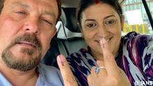 Indien Mumbai Minister Smriti Irani und ihr Mann Zubin Irani
