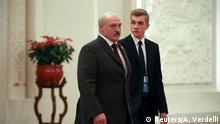 Alexander Lukaschenko mit Sohn in China