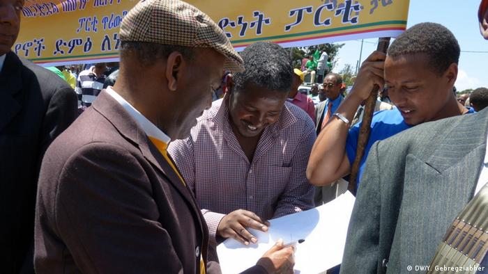 Negasso Gidada ehemaliger Präsident von Äthiopien (DW/Y. Gebregziabher)