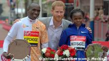 Leichtathletik London Marathon | Eliud Kipchoge, Prinz Harry und Brigid Kosgei