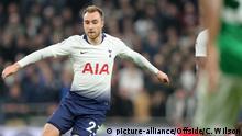 23rd April 2019, London - Premier League Football - Tottenham Hotspur v Brighton & Hove Albion - Christian Eriksen of Tottenham - Photo: Charlotte Wilson / Offside.  