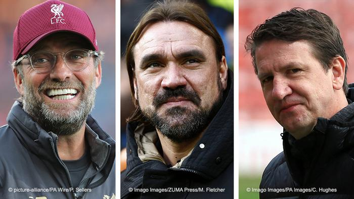 Jürgen Klopp, Daniel Farke, Daniel Stendel: German managers in title hunt in top three English leagues
