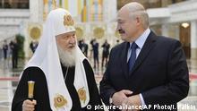 Weißrussland Aljaksandr Lukaschenka und Patriarch Kyrill