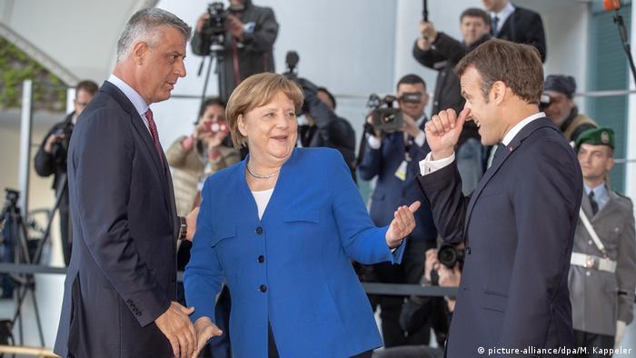 Deutschland Balkan-Treffen in Berlin   Merkel und Macron begrüßen Hashim Thaci