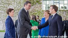 Deutschland Balkan-Treffen in Berlin | Merkel und Macron begrüßen Aleksandar Vucic und Ana Brnabic