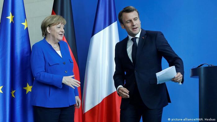 Deutschland Balkan-Treffen in Berlin | Merkel und Macron (picture-alliance/AA/A. Hosbas)