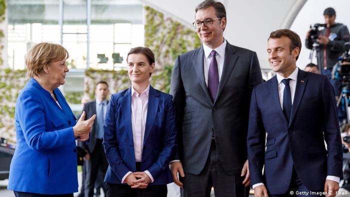 Angela Merkel, Ana Brnabić, Aleksandar Vučuć i Emanuel Makron, 2019.