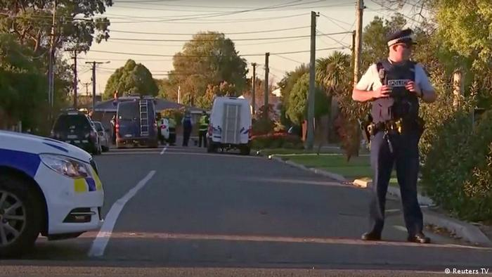 Christchurch, New Zealand, bomb scare (Reuters TV)