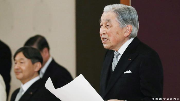 Japan Kaiser Akihito dankt ab (Reuters/Japan Pool)