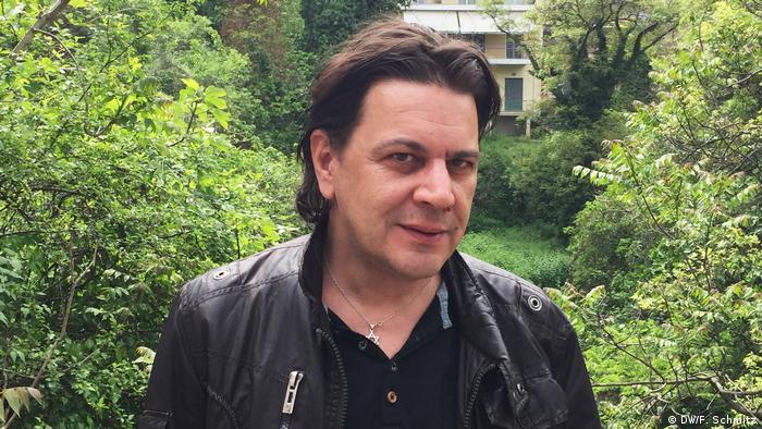 Griechenland - Synagoge Veria: Anwalt und Schriftsteller Yorgos Liolios (DW/F. Schmitz)