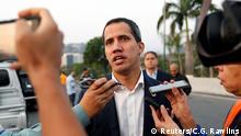 Venezuela Juan Guaido vor der Airbase La Carlota in Caracas
