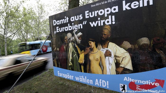 Deutschland Europawahl 2019 | AfD-Wahlkampf in Berlin | Eurabien (picture-alliance/AP Photo/M. Sohn)