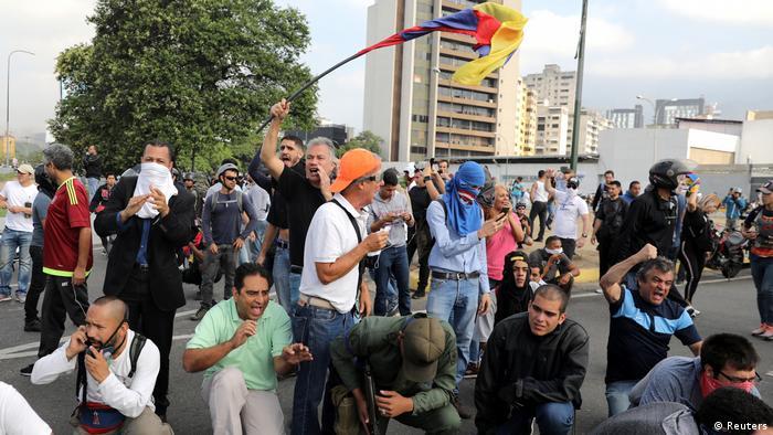 Caracas Protest Miranda Airbase