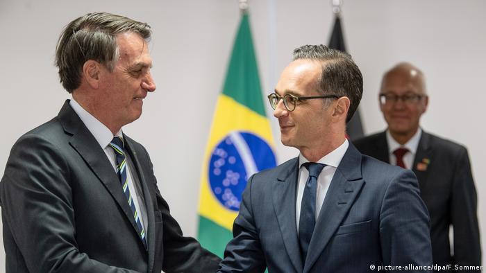 Bolsonaro recebe o ministro do Exterior da Alemanha em Brasília