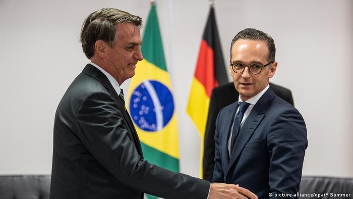 Heiko Maas, ministro de Exteriores de Alemania, aquí con el presidente de Brasil en Brasilia