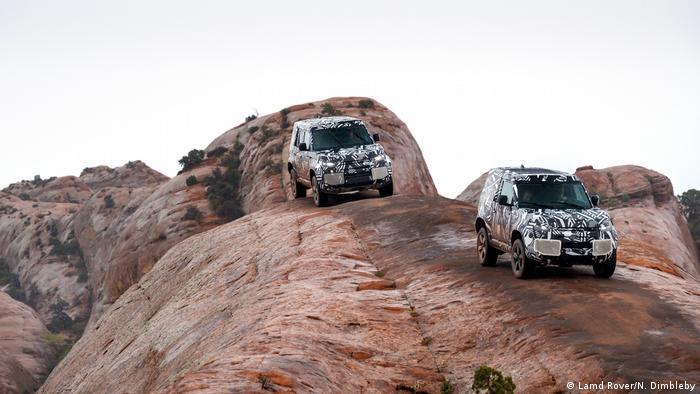 The Land Rover Defender being tested in Kenya
