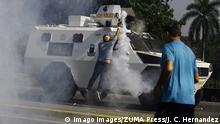 30.04.2019 April 30, 2019 - Valencia, Carabobo, Venezuela - The Venezuelans start a new protest against Maduro. The interim president Juan Guaido call to take the street in all Venezuela. These photos are from the Valencia city, Carabobo state. Valencia Venezuela PUBLICATIONxINxGERxSUIxAUTxONLY - ZUMAhe3_ 20190430_zbp_he3_026 Copyright: xJuanxCarlosxHernandezx