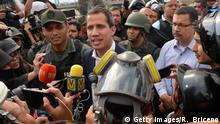 Venezuela Juan Guaido vor Airforce Base La Carlota in Caracas