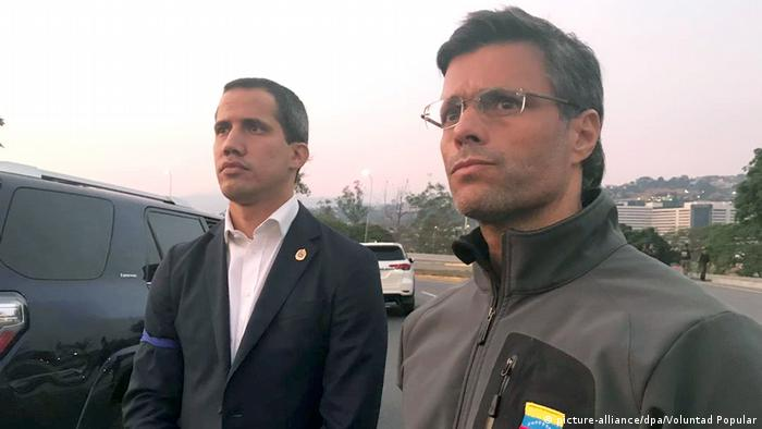 Venezuela Juan Guaido und Leopoldo Lopez (picture-alliance/dpa/Voluntad Popular)