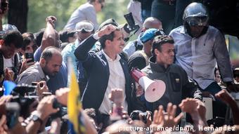 لوپز و گوایدو رهبران اپوزیسیون در اعتراض علیه دولت مادورو