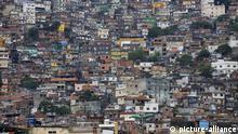 Favela in Rio de Janeiro, Brasilien, Südamerika