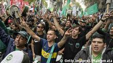 Streik in Buenos Aires gegen die Regierung
