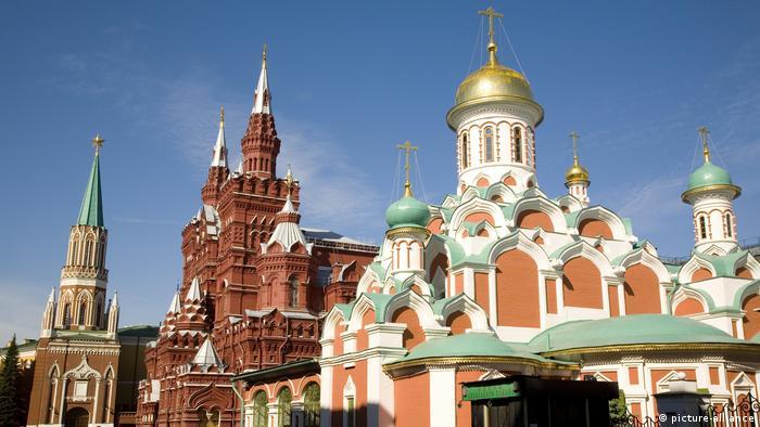 Церковь на Красной площади в Москве