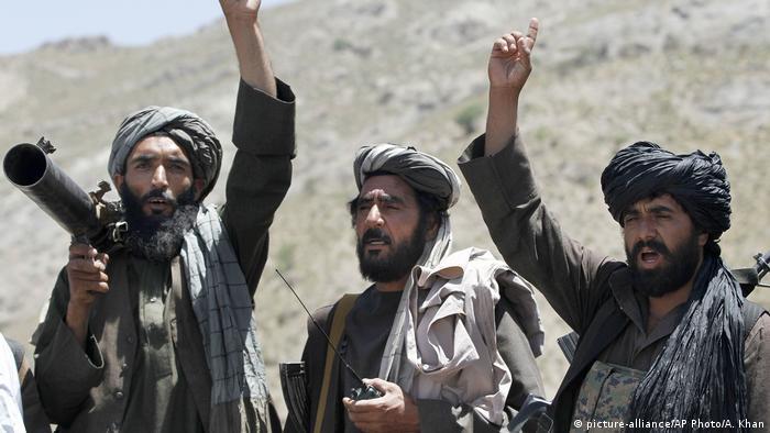 Combatientes talibanes en Afganistán.