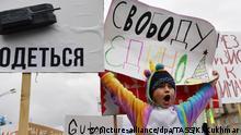 01.05.2019, Russland, Novosibirsk: EDITORIAL USE ONLY; NO COMMERCIAL USE; NO ADVERTISING NOVOSIBIRSK, RUSSIA - MAY 1, 2019: A child during a rally marking International Workers' Day. Kirill Kukhmar/TASS Foto: Kirill Kukhmar/TASS/dpa |