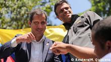 Venezuela Caracas Guaido & Lopez Rede vor Anhängern