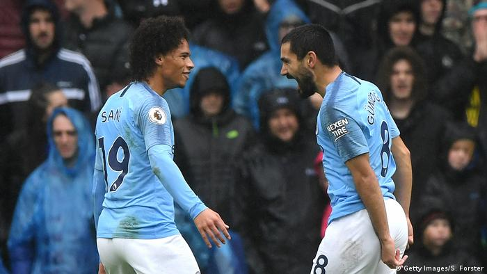 Premier League: Manchester City v Cardiff City - Leroy Sane und Ilkay Gündogan