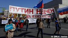 Russland St. Petersburg - Proteste zum 1. Mai
