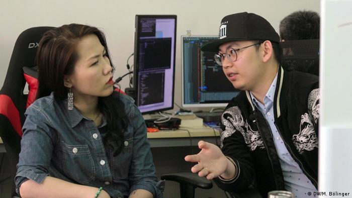 Katt Gu und Suji Yan von der chinesischen Tech-Firma Dimension