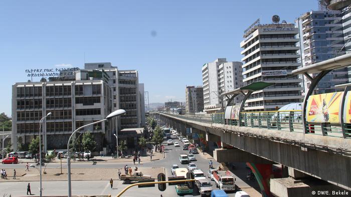 Äthiopien Addis Abeba - Schienenbahn