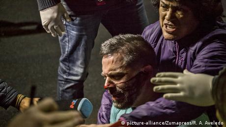 Venezuela politische Krise Ausschreitungen in Caracas (picture-alliance/Zumapress/R. A. Aveledo)