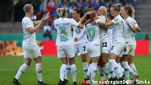 Fussball DFB Pokal Finale Frauen l VFL Wolfsburg vs Freiburg l Jubel 1:0