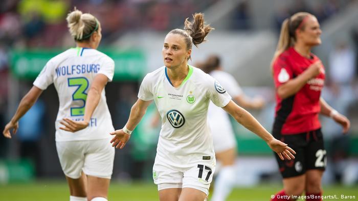 Wolfsburg celebrate a goal