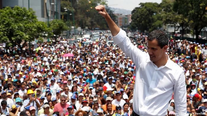 Venezuela Krise l Oppositionsführer Juan Guaido in Caracas