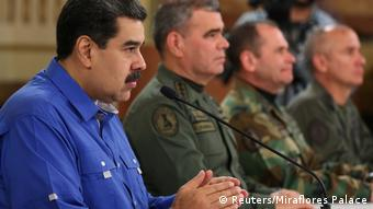Venezuela Krise l Präsident Nicolas Maduro während der TV Ansprache (Reuters/Miraflores Palace)
