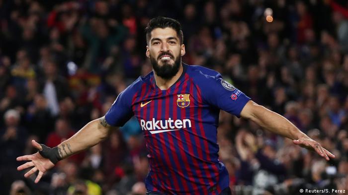 Fussball Champions League l FC Barcelona vs Liverpool l Tor 1:0 - Jubel Luis Suarez