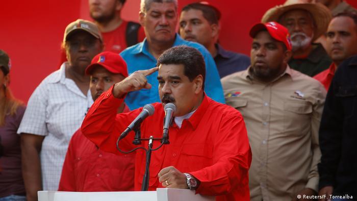 Venezuela Krise | Nicolas Maduro, Präsident in Caracas (Reuters/F. Torrealba )