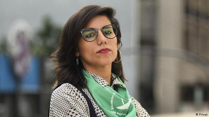 Die Argentinische Journalistin María Florencia Alcaraz in Buenos Aires